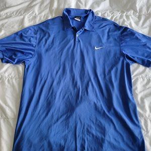 Nike Golf Dri-Fit Polo Shirt Men's Blue Size XXL